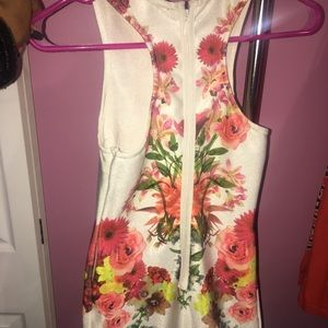 Body-con floral dress worn once